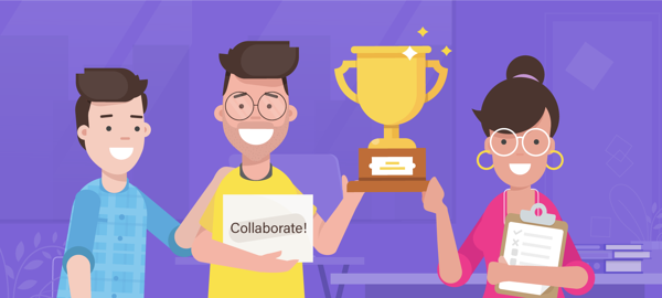employee collaboration at workplace